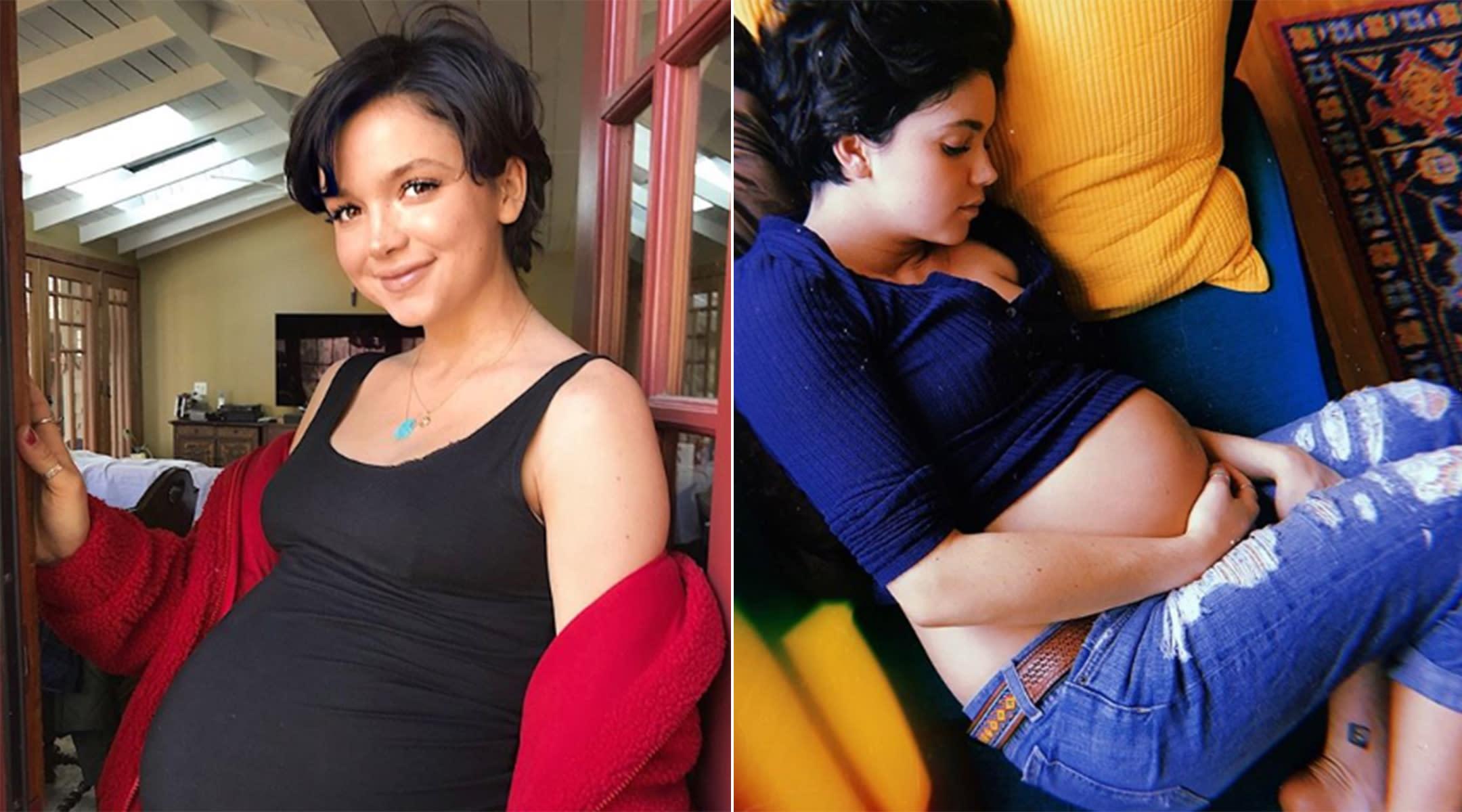 Bekah Martinez pregnant photos talks about postpartum love after birth of daughter