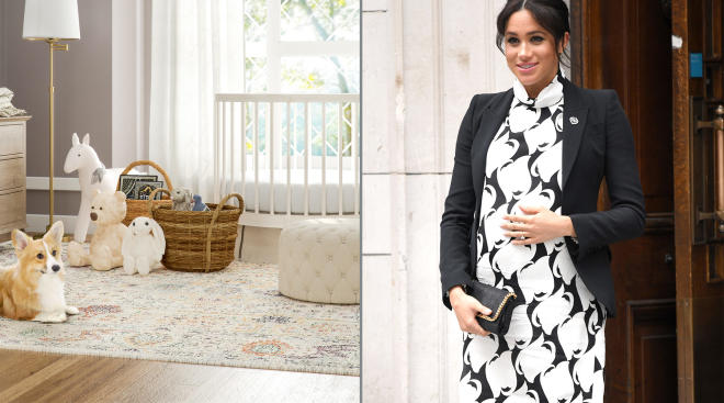 interior design company puts together imagined design for meghan markle's baby
