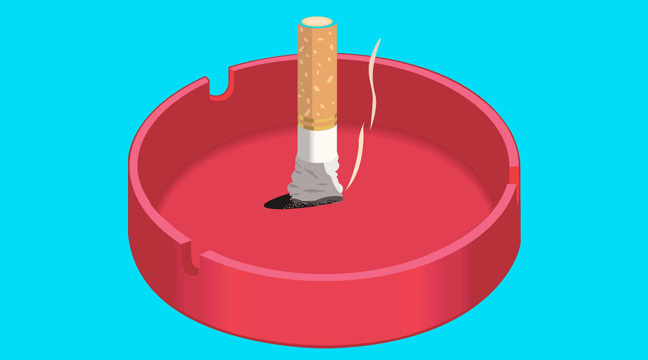 cigarette put out ash tray