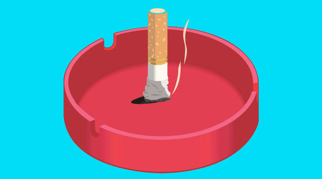 cigarette put out ash tray