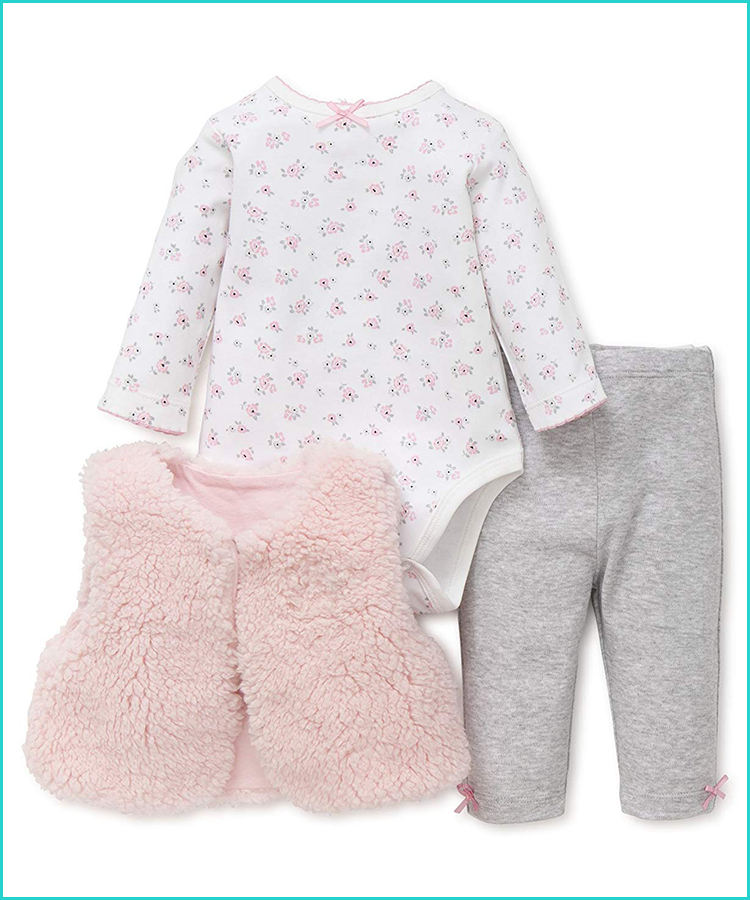 The Childrens Place Baby Girls Printed Glove Set