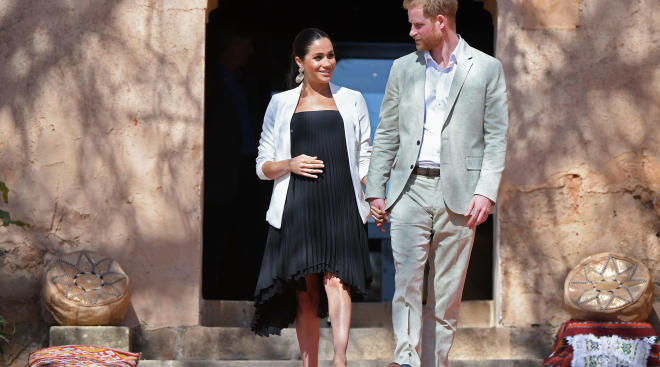 meghan markle with prince harry in morocco
