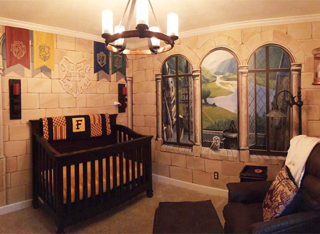 Dad Creates Magical Harry Potter Themed Nursery