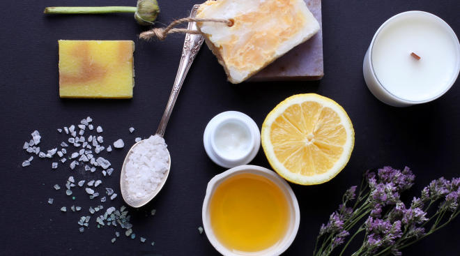natural skincare product arrangement