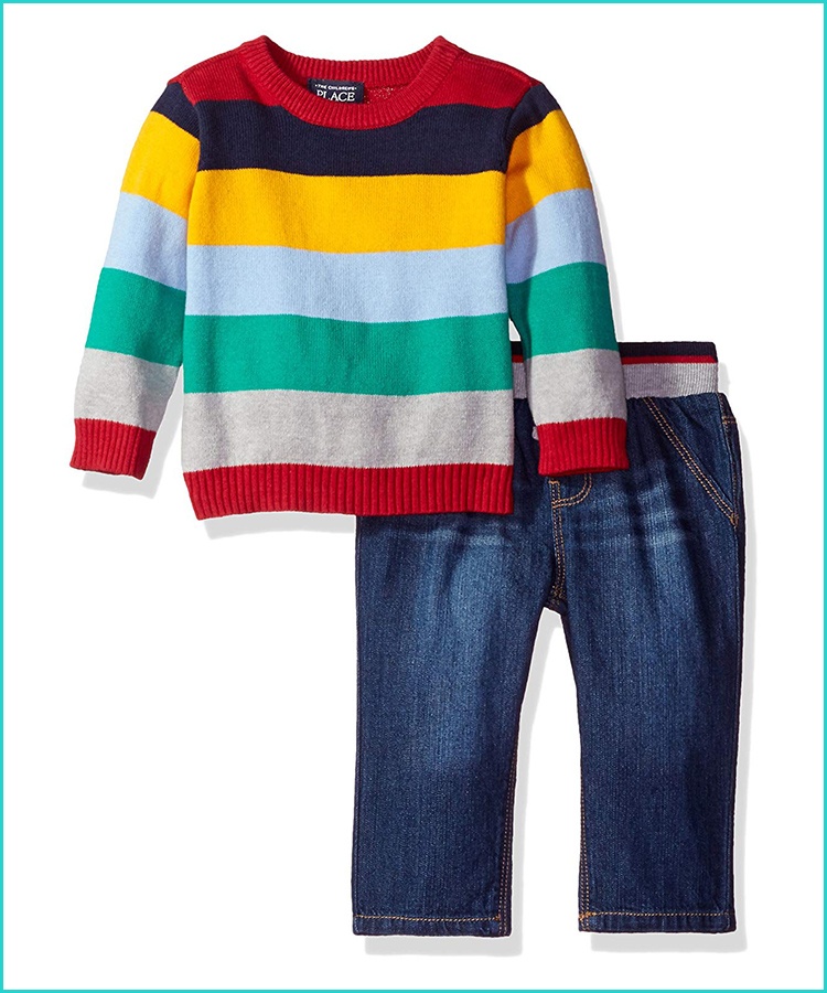 The Childrens Place Baby Boys 3 Pack Novelty Printed Jacket Set