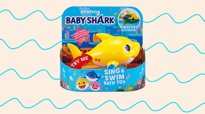 baby shark bath toy
