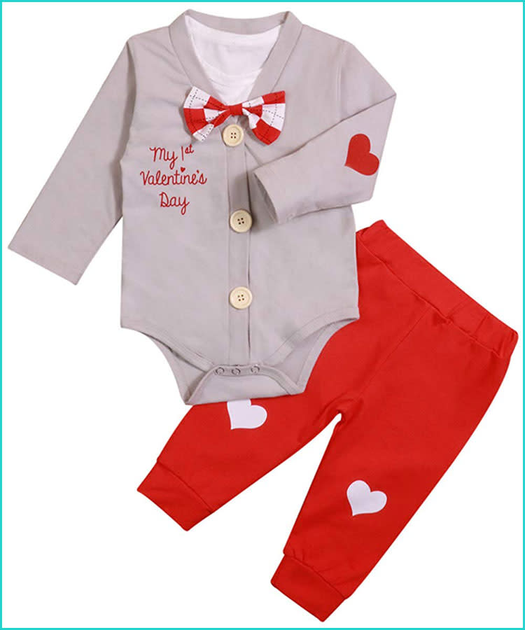 Valentines Day Outfit Baby Boy Clothes Bodysuit by sassylocks  |Baby Boy Valentine Outfit
