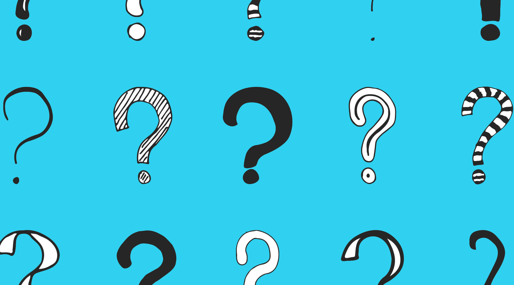 illustrated question marks