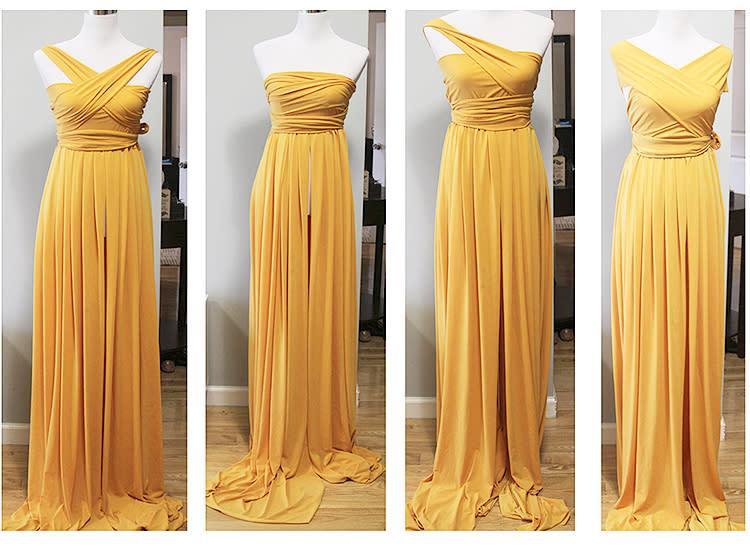 57ba7ae50a3 Silk Fairies plus size maternity bridesmaid gown