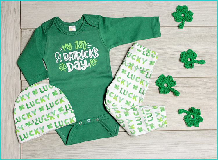 Carters Baby Boy My 1st First St Paddy/'s Patrick/'s Day Size Newborn Bodysuit