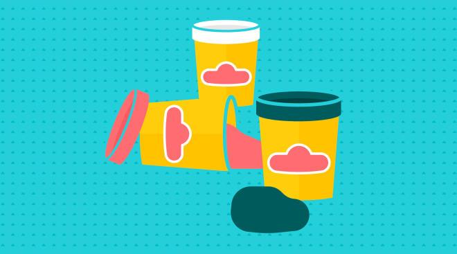 toddler craft, play-do jars