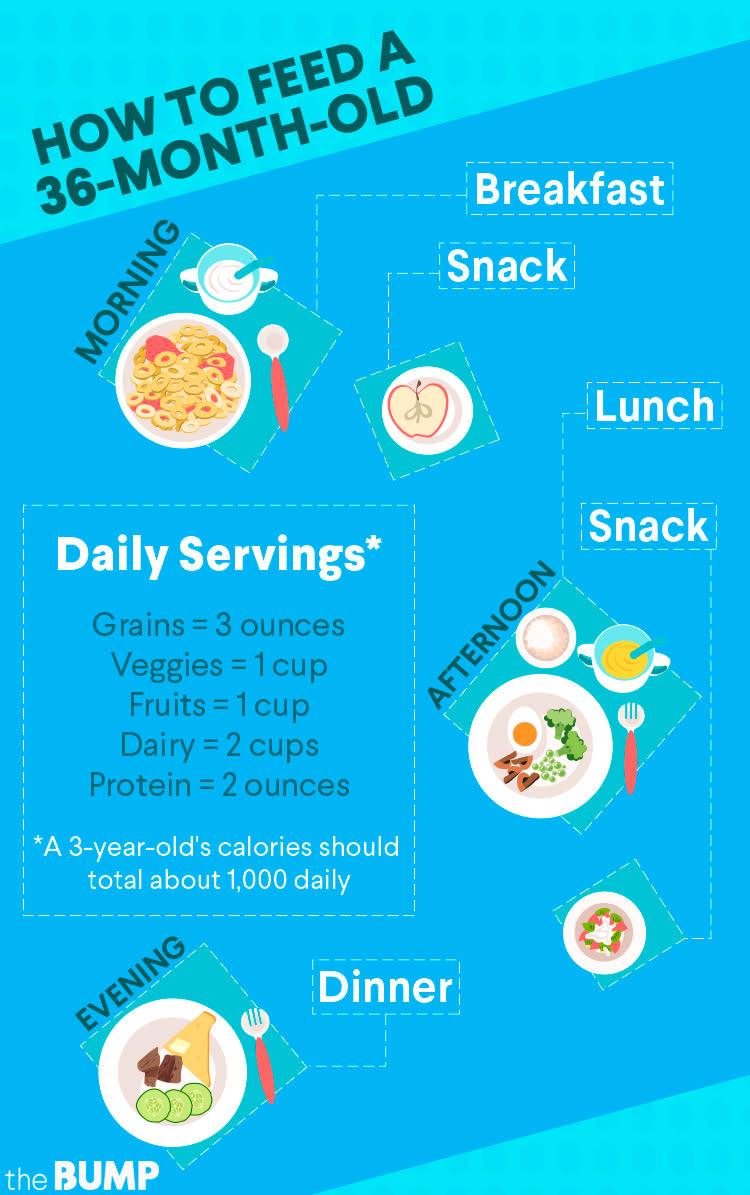 36 month old diet