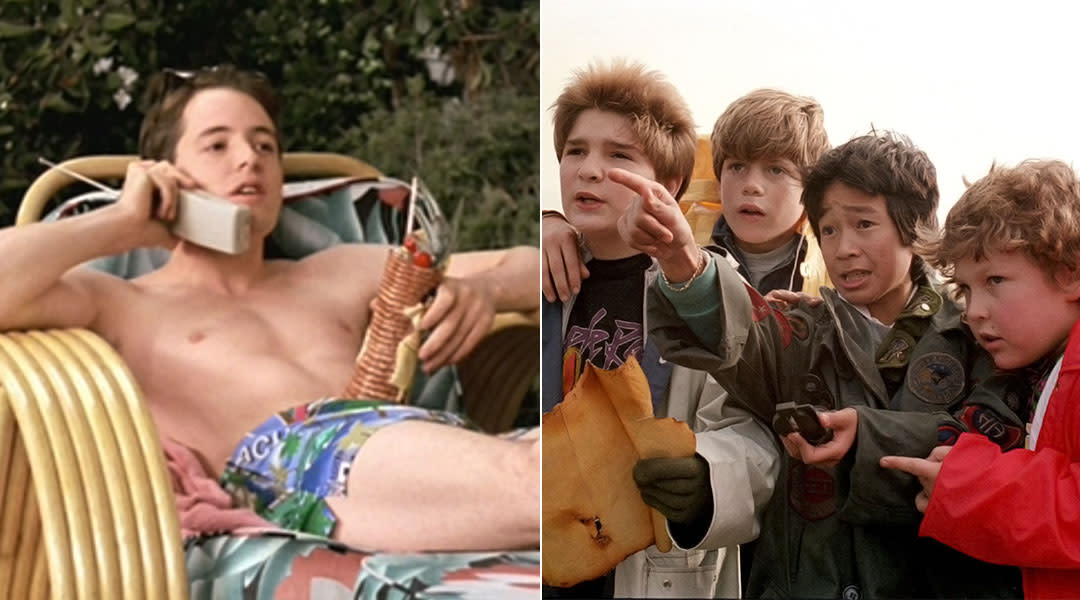 film stills from ferris bueller's day off and the goonies