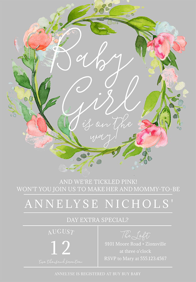 22 baby shower invitation wording ideas baby shower invitation wording for a girl 2 filmwisefo
