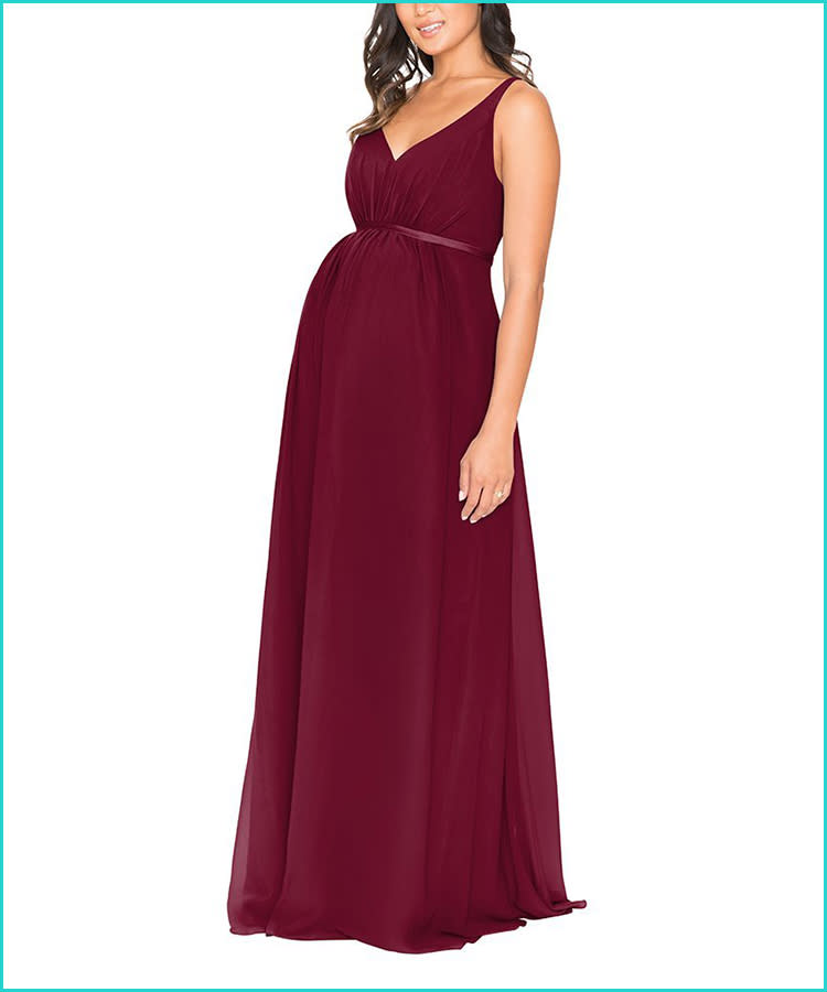 ade3a8c589620 27 Maternity Bridesmaid Dresses for Any Style and Size