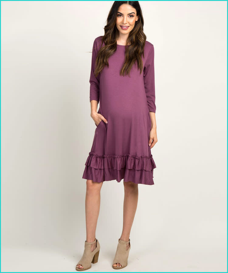 1a0c29dff9 24 Fall   Winter Maternity Dresses to Buy Now