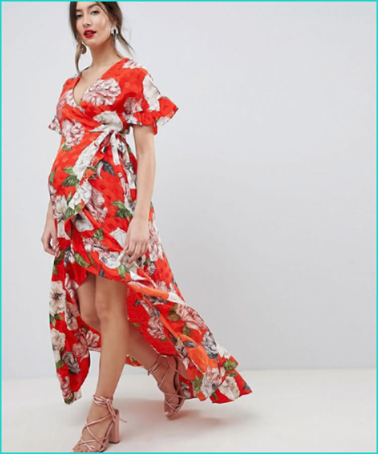 3-asos-maternity-ruffle-wrap-floral-dress