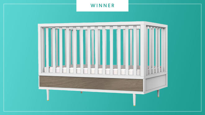The Babyletto EERO Crib wins the 2017 Best of Baby award from The Bump