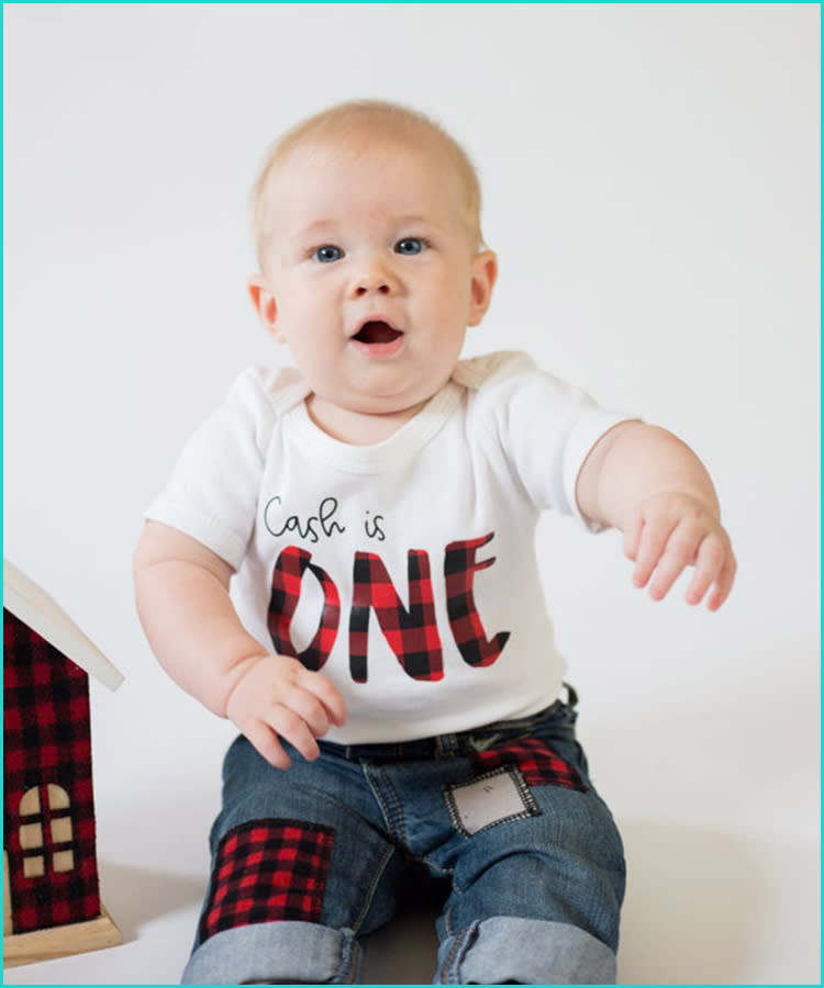 First Birthday Outfit Boy 1st Birthday One Year Old Baby Shirt Happy Birthday Party Charcoal Black 12 18 Months Buy Online At Best Price In Uae Amazon Ae