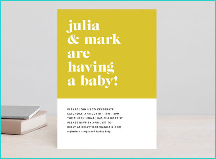 20 unique baby shower invitations minted baby shower invitations modern filmwisefo
