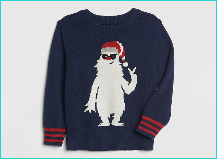 Tstars Im Digging Christmas Ugly Sweater Tractor Toddler Kids T-Shirt