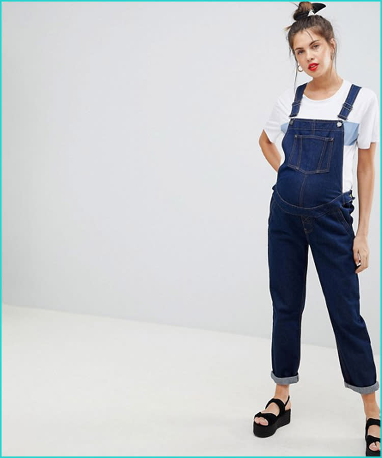 7f60d47dd1f6 21 Maternity Overalls That Are Too Cute to Pass Up