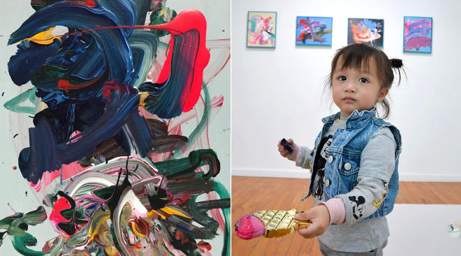 two year old artist creates paintings worth one thousand dollars