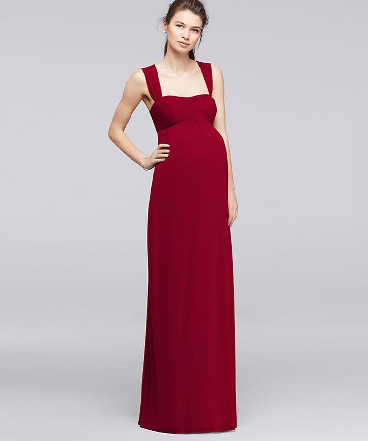 7d40656a6230 summer-maternity-dress-davids-bridal-formal-red-empire-