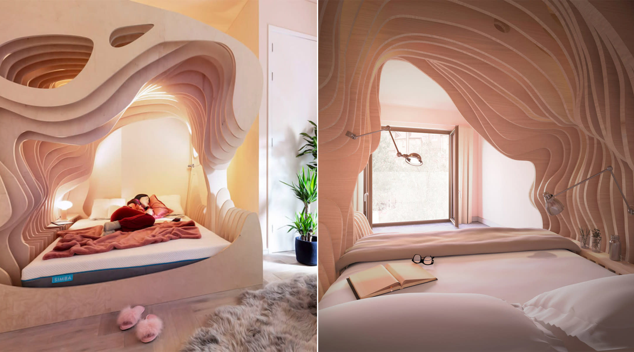 london hotel builds womb like rooms to promote better sleep