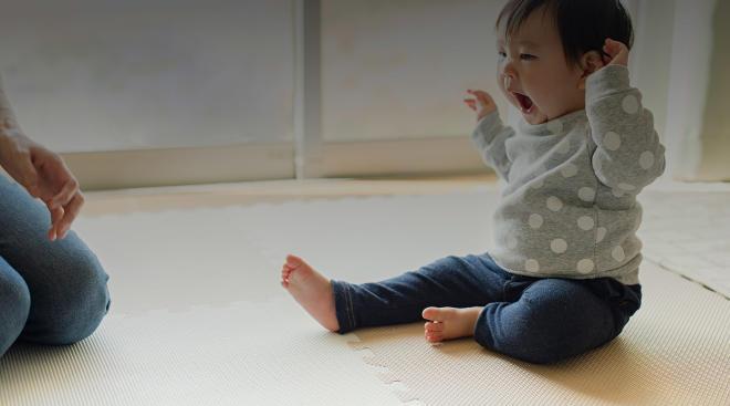 toddler at home yawning sleepy