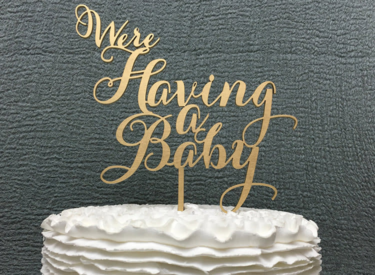 Pregnancy Announcement Were Having Baby Cake Topper