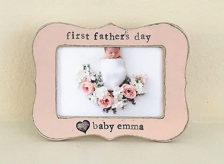 Flowers in December First Father's Day Personalized Picture Frame