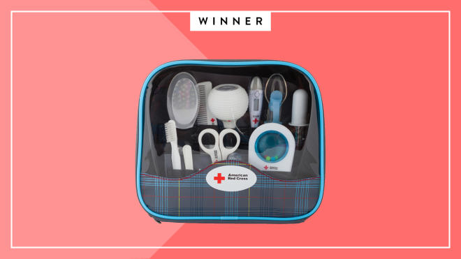 Best Baby First Aid Kit: the First Years Red Cross Deluxe Baby Healthcare and Grooming Kit