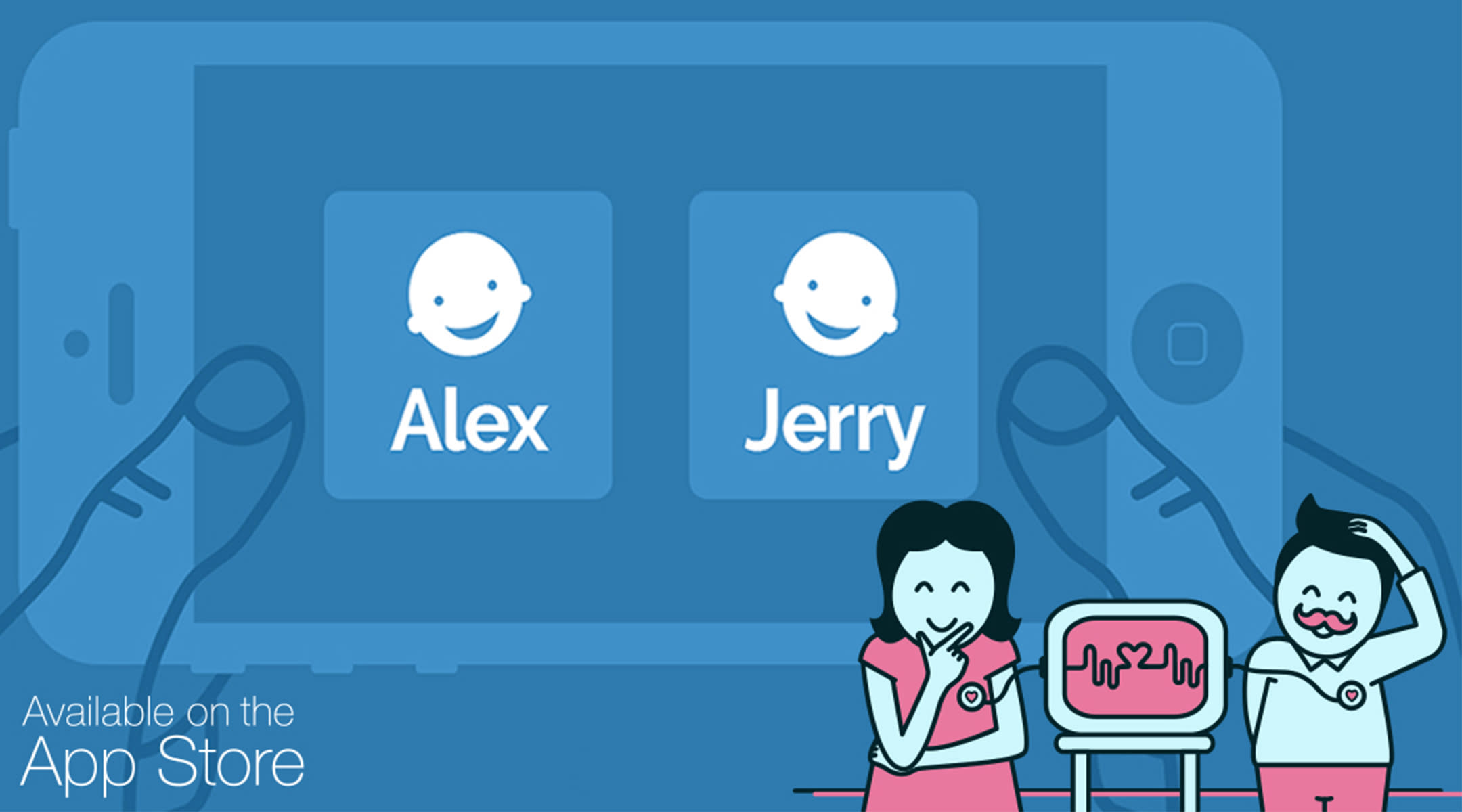 Baby naming app graphics