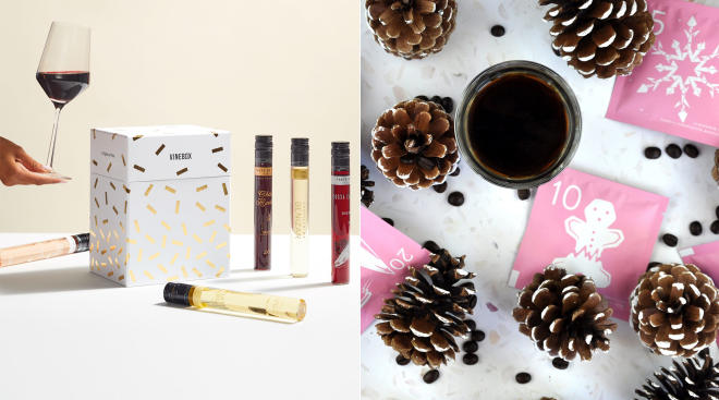 Adult Advent Calendar featuring vinebox and yawn coffee
