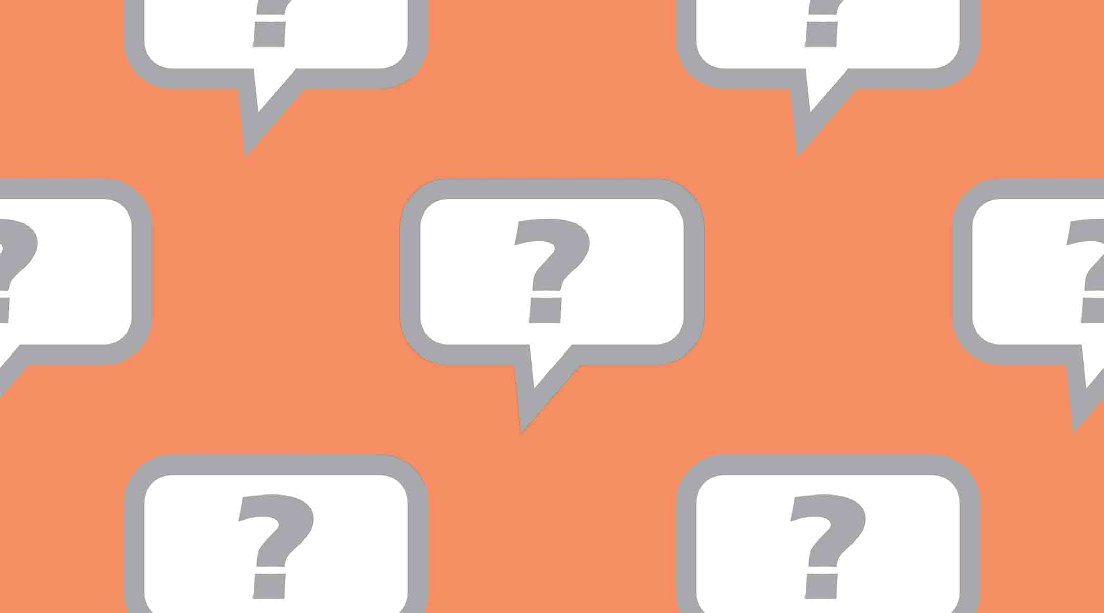 speech bubble with question mark illustration