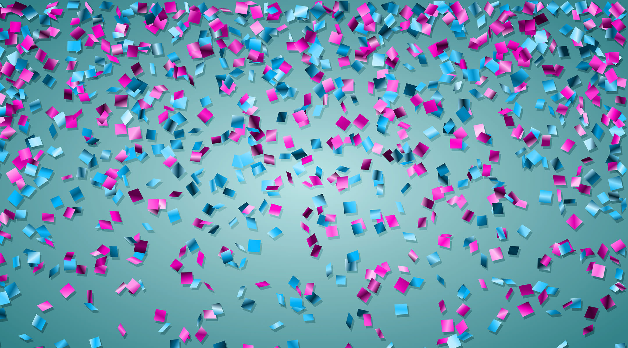 blue and pink confetti