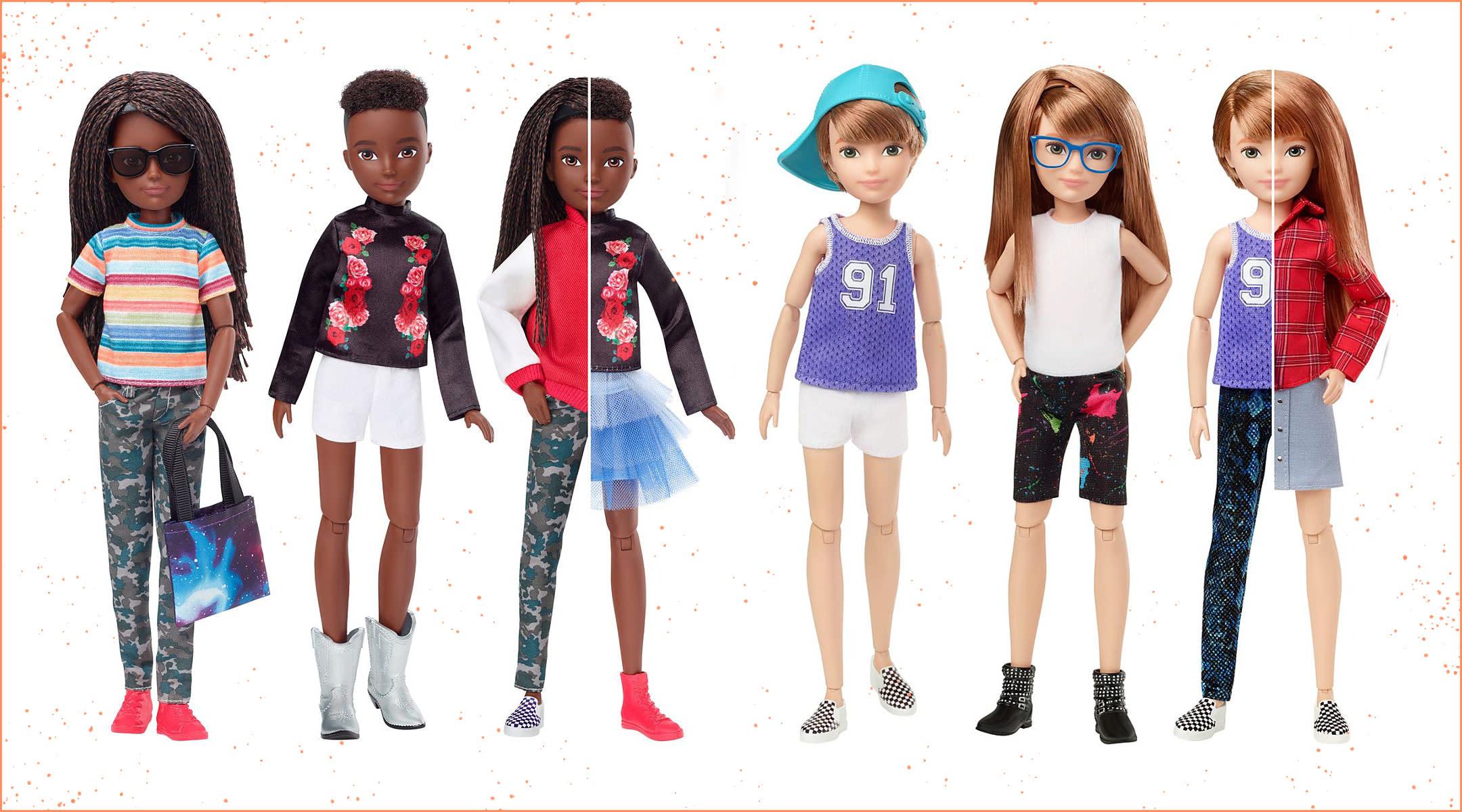 A New Mattel Line of Gender-Neutral Dolls Just Hit Stores Shelves