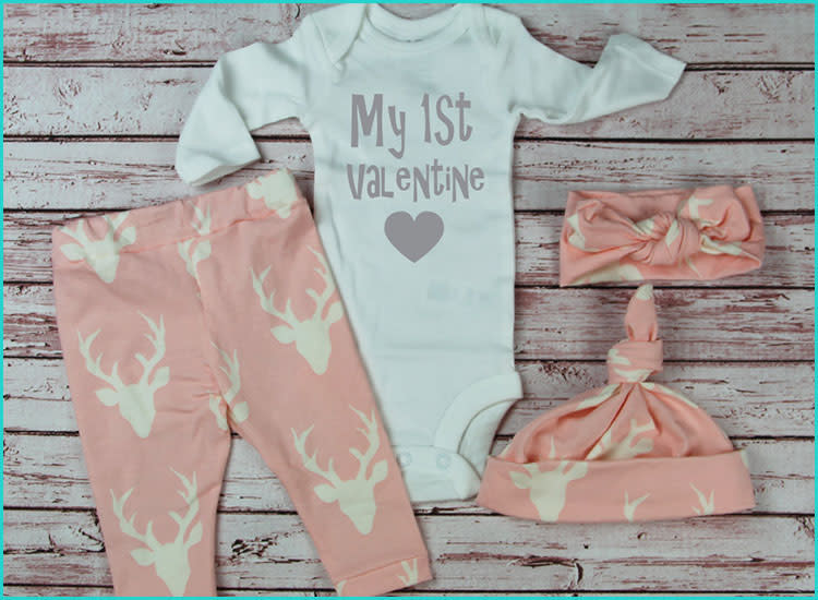 96787c058 20 Valentine s Day Baby Outfits That ll Melt Your Heart