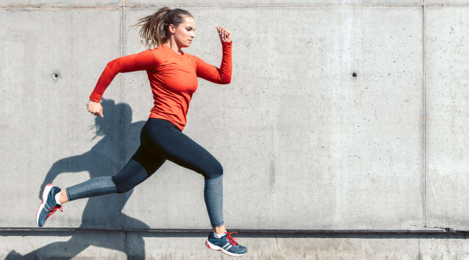 woman exercise running