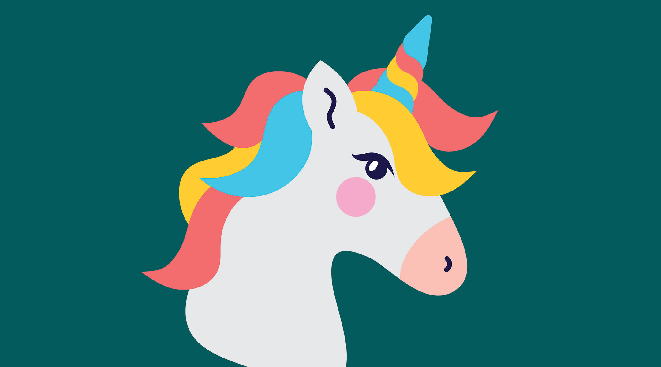 colorful unicorn which represents the myths