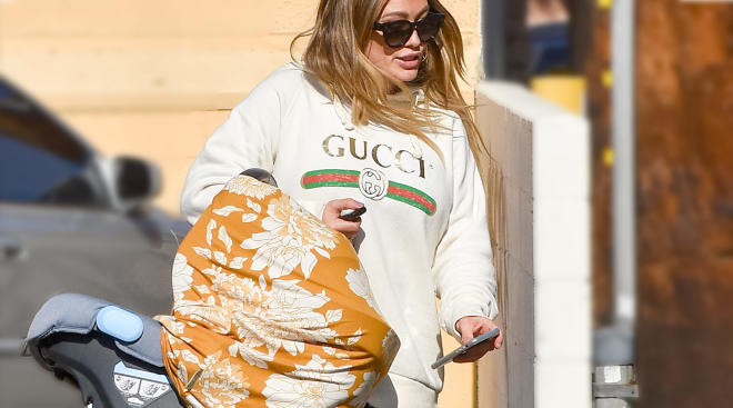 hilary duff commensurates about her baby that has colic