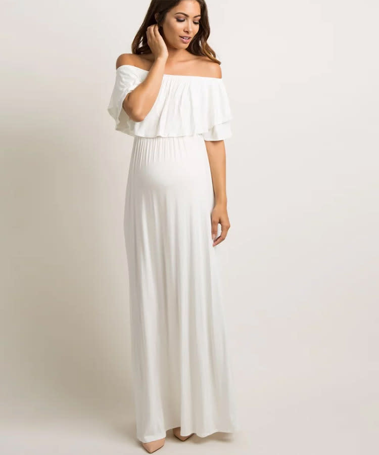 fe3a12ef639c5 summer-maternity-dress-pink-blush-maxi-off-shoulder