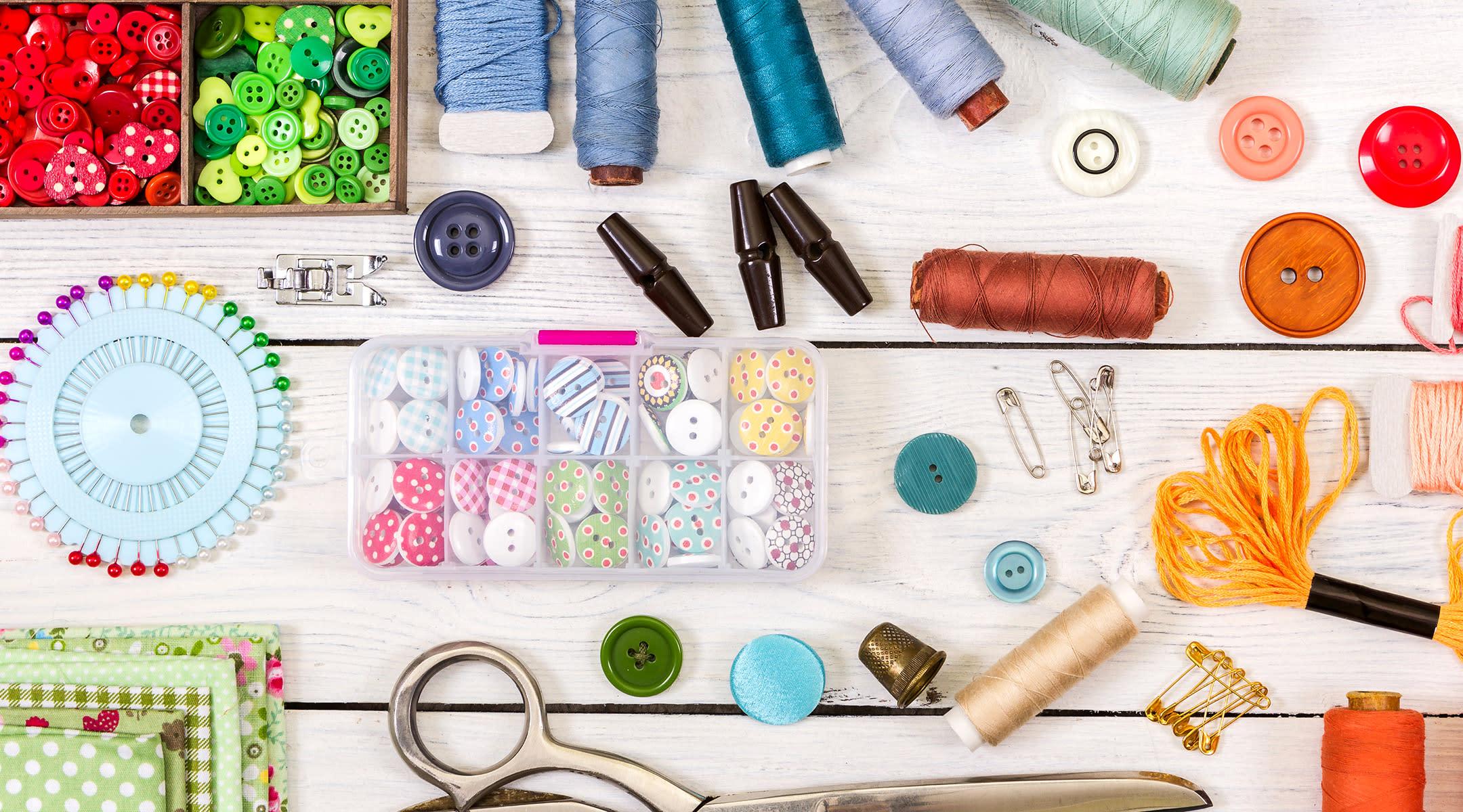 craft supplies thread buttons