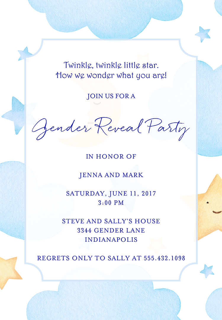 22 baby shower invitation wording ideas gender reveal invitation wording 4 stopboris Gallery
