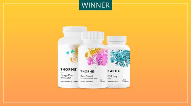 Vitamin and Me Throne prenatal vitamin bottles