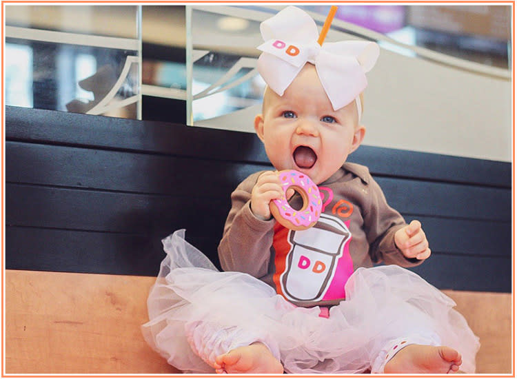 dunkin donuts latte baby halloween costume