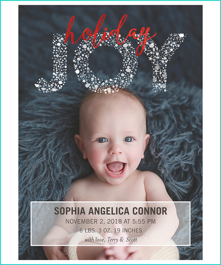 Best Birth Announcements Shutterfly Holiday