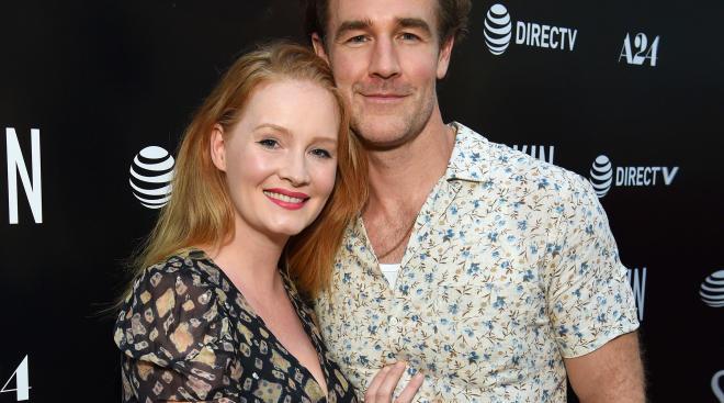 actor james van der beek with his wife kimberly