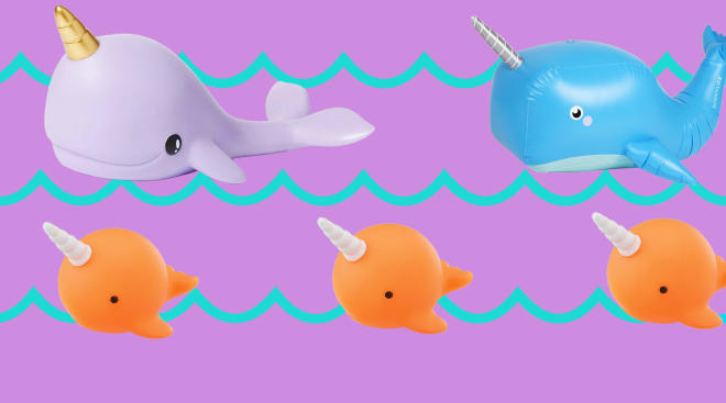 narwhal products and toys for babies
